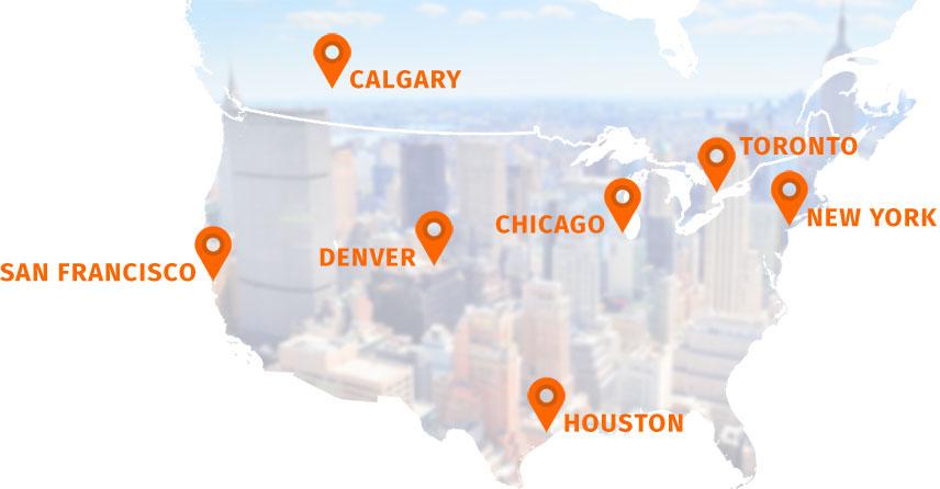 North American Roadshow destinations